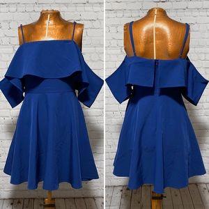 Lulu's Cold Shoulder Ruffled Mini Dress EUC